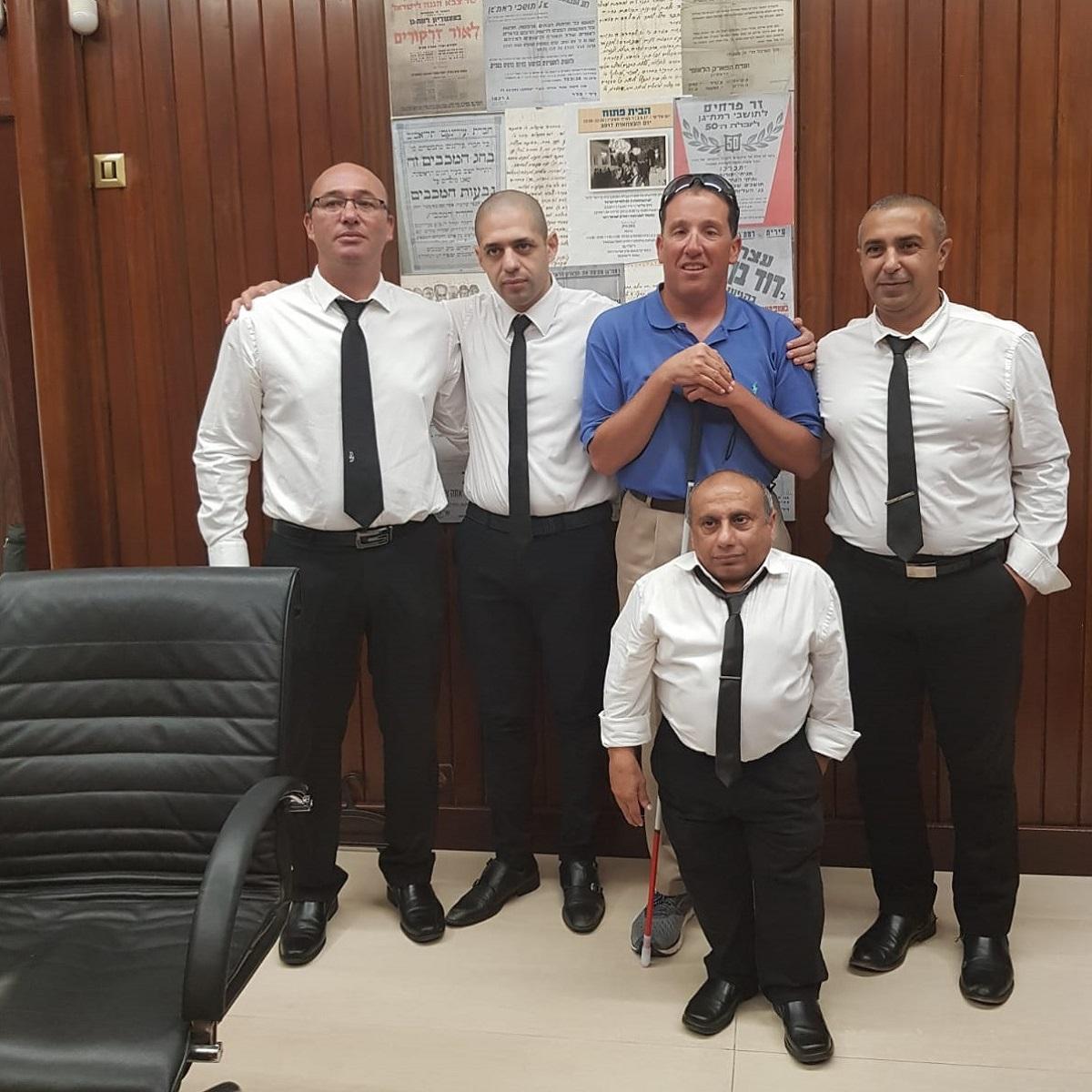 הצוות המקצועי של מרכז הזכויות עם השופט ריצרד ברנשטיין